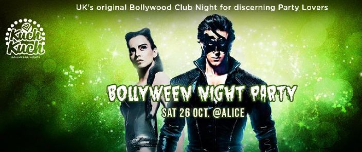 Saturday 26 Oct. Sparkling Diwali & Spooktacular Bollyween Night Party inc 9.30pm Fun Bolly Dance Class